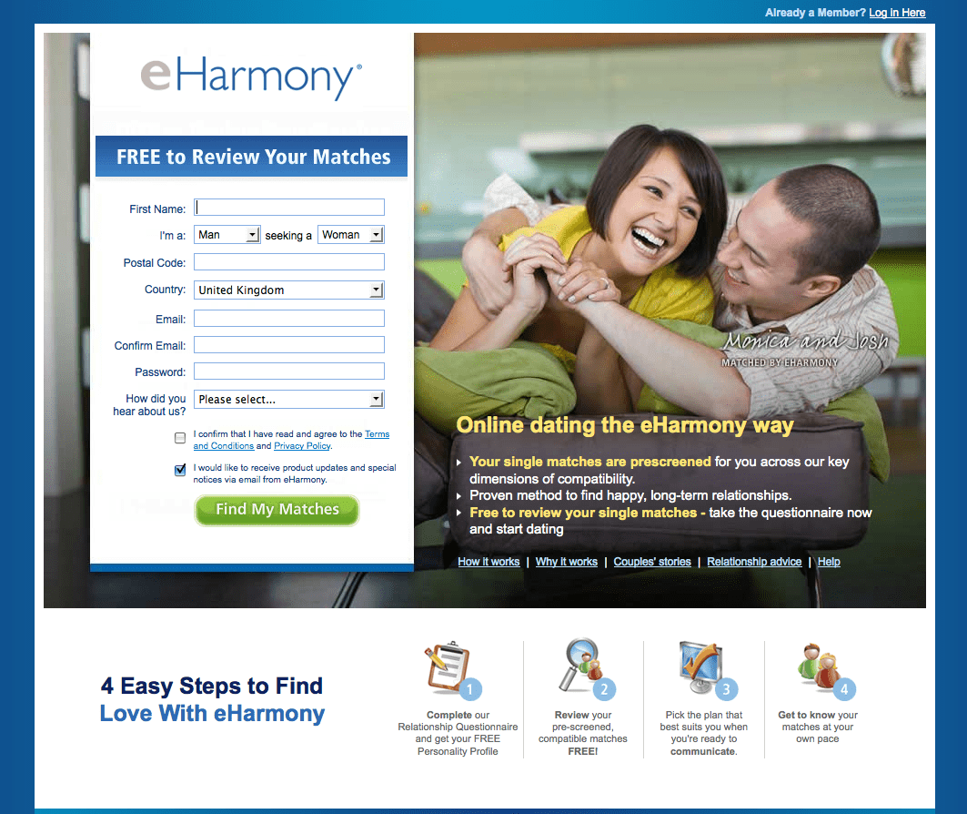 dating site som eharmony