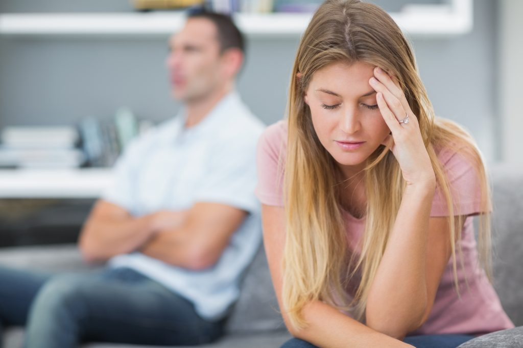 woman upset in relationship
